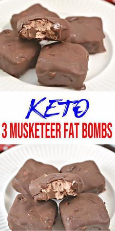 Keto fat bombs you won't be able to pass up! {Easy} low carb keto fat bomb recipe for the best 3 Musketeer Candy bar Chocolate fat bombs. Perfect ketogenic diet w/ keto friendly ingredients. Great keto snacks on Low Carb Cake, Low Carb Sweets, Low Carb Desserts, Easy Desserts, Low Carb Recipes, Diet Recipes, Cookie Recipes, Food Recipes Snacks, Easy Keto Recipes