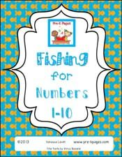 Free Printable Fishing for Numbers Game for Preschool and Kindergarten via www.pre-kpages.com