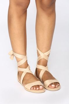 50e12649ff0 Ankle Wrapped Sandal - Natural Ankle Wrap Sandals