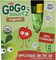 Materne GoGo Squeeze Organic Applesauce On The Go Apple Strawberry  4 Pouches >>> You can find more details by visiting the image link.