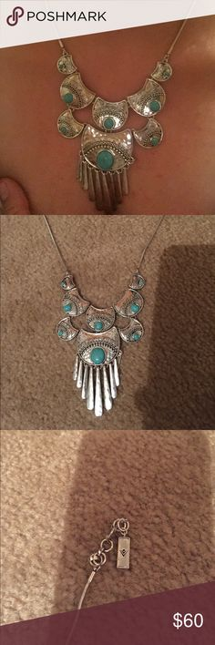 """Silpada necklace New, turquoise 22"""" plus 1"""" extender, silver plated (not stamped) exquisite crafting and just a  Silpada Jewelry Necklaces"""