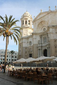 Cadiz Cathedral, Spain (by Project Andalusia Spain, Seville Spain, Places Around The World, Travel Around The World, Around The Worlds, Places To Travel, Places To See, Travel Destinations, Travel Tips