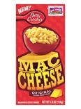 Betty Crocker Mac and Cheese. No boiling noodles separately. It all cooks in 1 pot. Nice homemade taste. Elbows slightly larger than other brands. Tastes even better reheated next day.