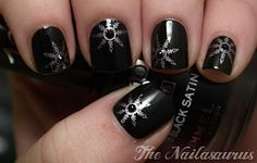 Sweet black and silver nails