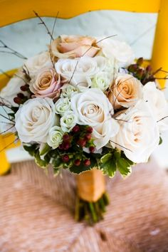 a rustic fall wedding bouquet www.fioreofpensacola.com :: photo - www.documentedphotography.com