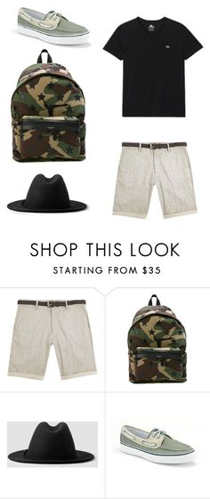 """""""Deck outfit"""" by sparklepieceblog on Polyvore featuring River Island, Yves Saint Laurent, AllSaints, Sperry, Lacoste, men's fashion and menswear"""