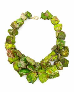 Nest Chunky Green Jasper Necklace - Neiman Marcus