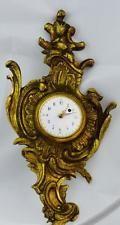 Антикварная французская бронза gild рококо verge fusee календарь настенные часы c1800's