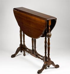 Mid 19th C. Mahogany Carved Drop Leaf Gate Leg Sutherland Table from piatik on Ruby Lane