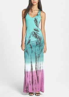Love this tie dye maxi for summer.