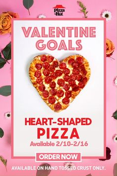 Heart-Shaped Pizza from Pizza Hut—until Roses are red, violets are blue, order a Heart-Shaped pizza for date night with boo. Happy Valentine's Day! Keto Food List, Food Lists, Low Carb Recipes, Vegan Recipes, Grill Recipes, Pasta Recipes, Dinner Recipes, Order Pizza Online, Heart Shaped Pizza