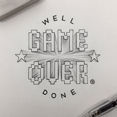 Game Over - Well done typography. ©Anthony Hos