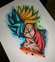 Painting abstract art diy inspiration 37 ideas for 2019 Dragon Ball Gt, Dragon Art, Goku Drawing, Ball Drawing, Super Anime, Pencil Art Drawings, Dbz Drawings, Disney Drawings, Anime Art