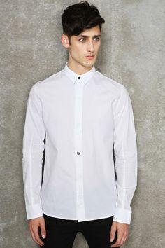 Eleven Paris Plain White Poyk Poplin Shirt