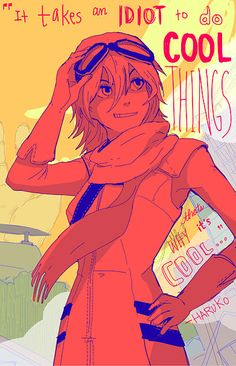 FLCL HARUKO by OMOcat on Etsy, $8.00