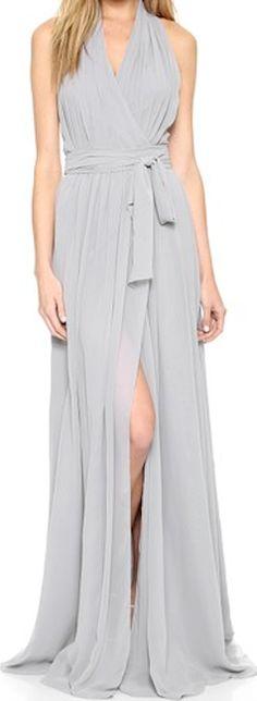 Stunning long grey dress