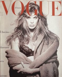 Rachel Hunter - Vogue Italia 1988