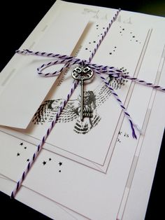 Harry Potter Wedding Invitation Package on Etsy, $5.50 - These are adorable. I love the owls delivering the mail.