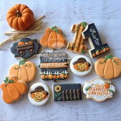 "612 Likes, 54 Comments - Natasha (@natsweets) on Instagram: ""Karter's Pumpkin patch! #pumpkinpatch #ourlittlepumpkin #pumpkinpatchcookies #fallcookies #fall…"""