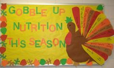 ... and LCM Bulletin Board » Gobble Up Fruits And Veggies Bulletin Board