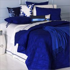 Photo of Blissliving Home Kahuna Royal Comforter Collection (Bedding, Bedding Sets) Royal Blue Bedrooms, Blue Rooms, Royal Blue Bedding, White Bedding, Satin Bedding, Purple Bedding, Bedroom Bed, Bedroom Decor, Bedroom Ideas