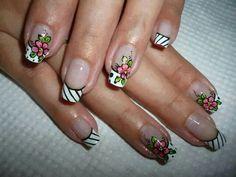 Uñas Fun Nails, Pedicure, Nail Art, Beauty, Nail Ideas, Work Nails, Fingernail Designs, Flowers, Pedicures