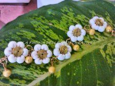 Bracciale bianco fiore