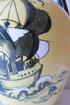 Wood & Sons Bursley Ware Galleon Ewer - Probably Frederick Rhead Pottery Painting, Pottery Art, Sons, Charlotte, University, Paintings, City, Ceramic Painting, Paint