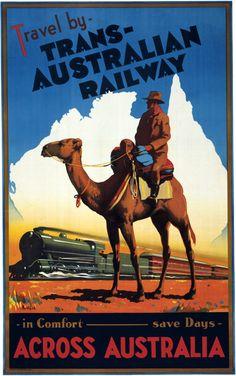 Travel by Trans-Australian Railway across Australia. In Comfort. Save Days. A…