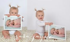 use newborn photos at their first birthday
