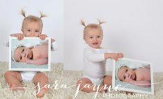 use newborn photos at their first birthday