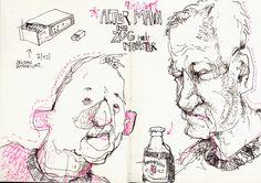 Felix Scheinberger Skizzen 2011 Moleskine Sketchbook, Artist Sketchbook, Sketchbook Pages, Illustration Sketches, Character Illustration, Drawing Sketches, Fast Drawing, Life Drawing, Face Sketch
