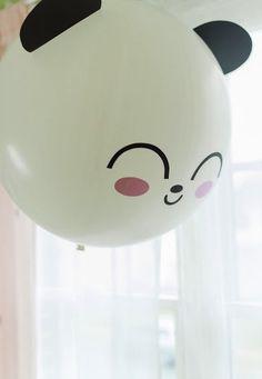 Ballon panda kawaii