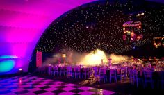 A large marquee is the perfect setting for a corporate dinner dance or summer party.