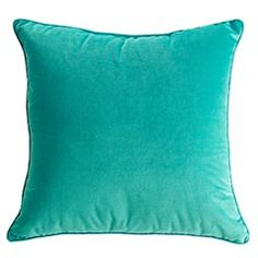 """Blue Plush Pillow $19.95 Velvety soft and in vibrant spring colors, our aptly-named Plush Pillows are Nature's way of bringing a welcome change of season indoors instantly. And by Nature, we mean Pier 1. Blue, Citron or Coral.  # Size: 20""""W x 20""""H"""