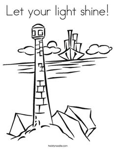 Have a long drive to attend one of the five First Day of Issue events for the New England Coastal Lighthouses Forever® Stamps? Keep your kids interested and busy during the trip with lighthouse-theme coloring pages. School Coloring Pages, Coloring Pages For Kids, Kids Coloring, Fish Coloring Page, Coloring Stuff, Colouring, Christian Crafts, Christian Kids, Bible Verse Coloring Page