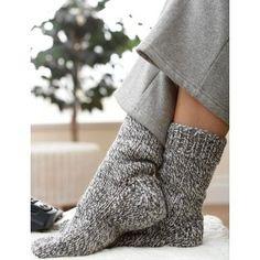 Beginner Women's Socks Knit Pattern