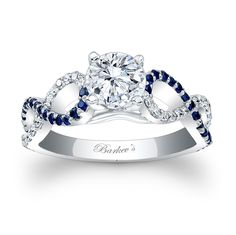 Blue Sapphire Engagement Ring - 7714LBS