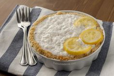 Pastel de coco y limón, sin gluten y sin lactosa