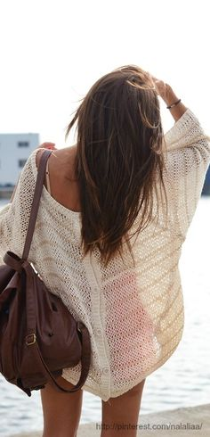 45 Most Interesting Boho Beach Looks - Fashion Trends Looks Street Style, Looks Style, Look Fashion, Fashion Beauty, Fashion Hair, Sweater Fashion, Fashion Outfits, Bon Look, Mode Vintage