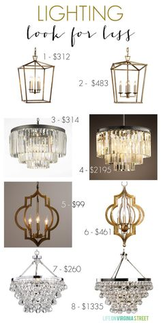 Lighting Look for Less Picks along with gorgeous inspiration photos on how these look in real spaces - Life On Virginia Street Decor, Lighting, Light Fixtures, Home Decor, Beautiful Home Gardens, Home Lighting, Contemporary Lighting, Contemporary Light Fixtures, Diy Lighting