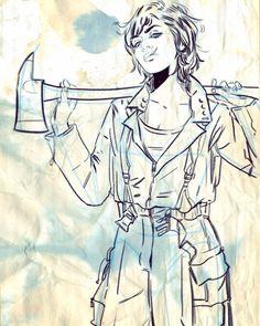tulalotay:  Line art for SLASH & BURN #2