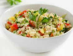 Quinoa-Salat Vegan, Fried Rice, Risotto, Potato Salad, Grains, Potatoes, Ethnic Recipes, Food, Dressing