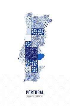 Portugal Map Print
