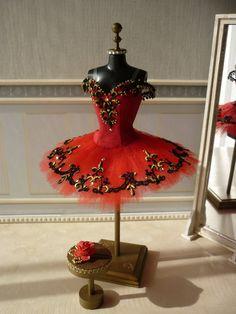 A miniature tutu handmade/ Miniature Ballet Costume...Gift Idea for Nutcracker Ballet Noel