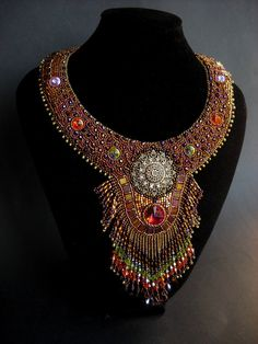 Sparkling Seduction  Iris Gold Bead by PreciousHeartBeads on Etsy, $565.00