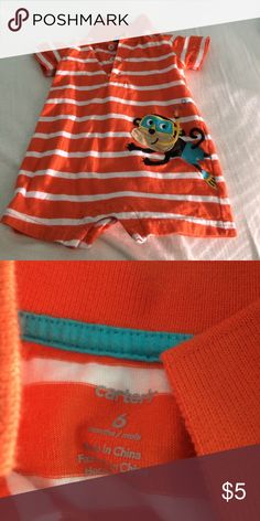 Infant Boy's Carter's Romper In excellent used condition, no rips stains or tears. PRICE FIRM, NO TRADES OR PAYPAL. Carter's One Pieces Bodysuits