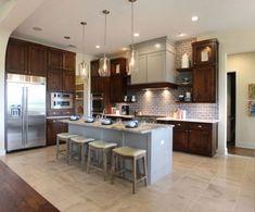 20 Stunning Kitchen Design Ideas With Mahogany Cabinets Stained Kitchen Cabinets, Refacing Kitchen Cabinets, Kitchen Cabinet Colors, Painting Kitchen Cabinets, Alder Cabinets, Cabinet Refacing, Cabinet Doors, Cabinet Stain, Maple Cabinets