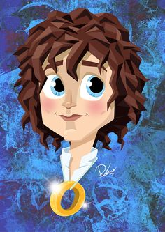 Elijah Wood in the role of Frodo - caricature by Ribosio #thelordoftherings