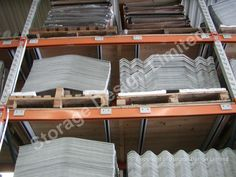 Concrete products stored on pallet racking Timber Deck, Storage Design, Project Management, Bunk Beds, Lockers, Shelving, Pallet Racking, Concrete, Projects